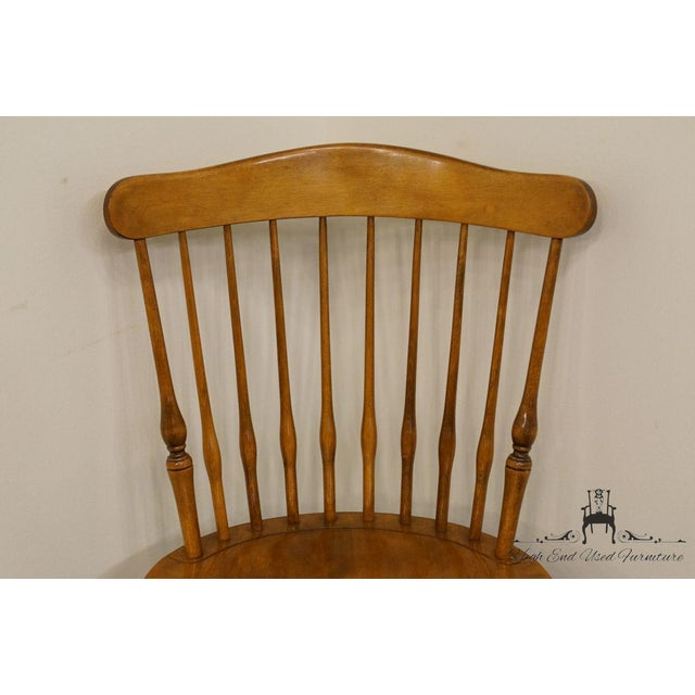 Late 20th Century Nichols & Stone Gardener MA Old Pine Side Chair For Sale - Image 5 of 13