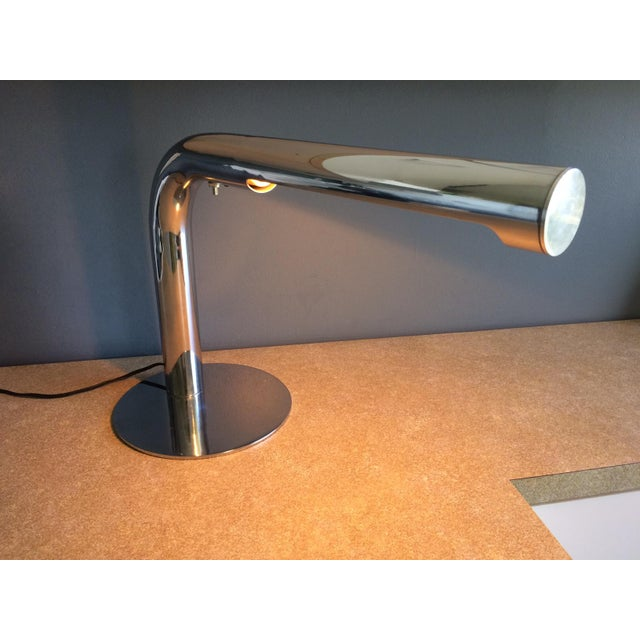 1970s Robert Sonneman Chrome Desk Lamp - Circa 1970s For Sale - Image 5 of 12
