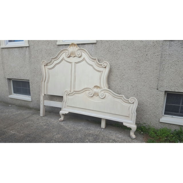Victorian Ivory Queen Bed Frame - Image 2 of 7