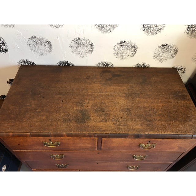 19th Century English Oak Chest For Sale - Image 6 of 13