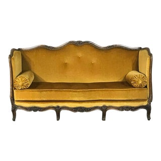 Antique 19th Century Country French Sofa For Sale