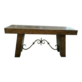 Century Marbella Vintners Console Table For Sale