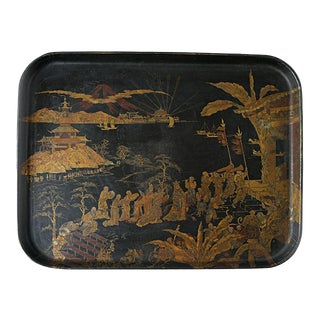 Chinorisie Lacquer Tray For Sale