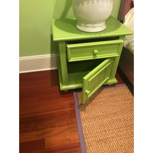Stanley Michaels Lime Green Table For Sale - Image 4 of 5