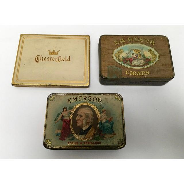Vintage Tobacco Cigar & Cigarette Tins - Set of 3 - Image 3 of 11