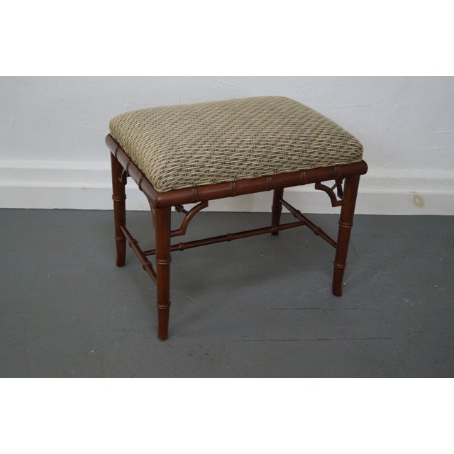 Councill Craftsman Faux Bamboo Ottoman - Image 10 of 10