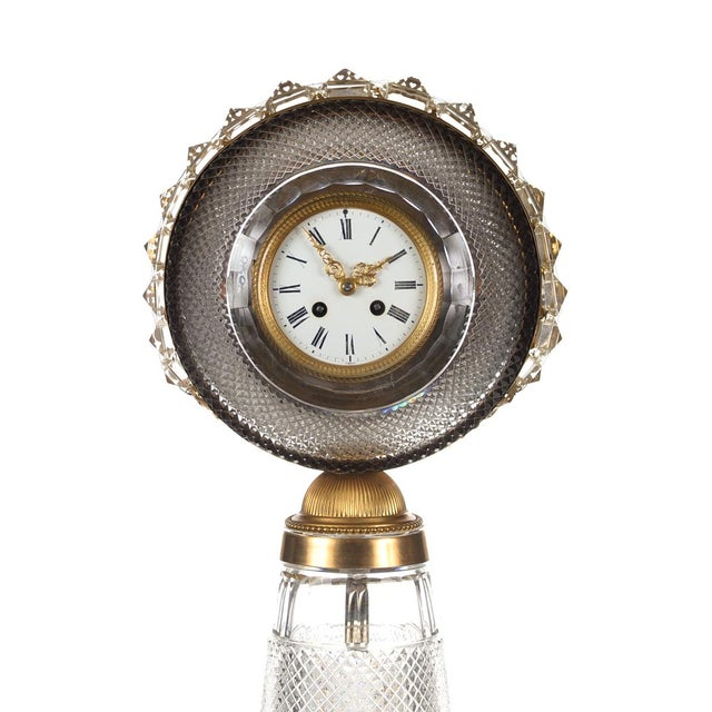 "19th century Rare Floor Clock French gilt bronze-mounted cut crystal size 11 x 14"" x 47 A beautiful piece that will add to..."