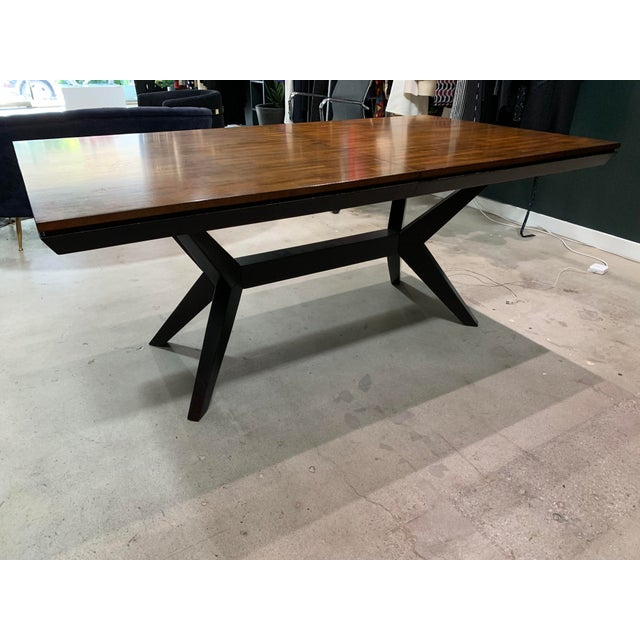 2010s Mid-Century Modern Walnut Dining Table For Sale - Image 5 of 8