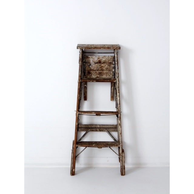 Vintage Rustic Wooden Painter's Ladder - Image 3 of 11