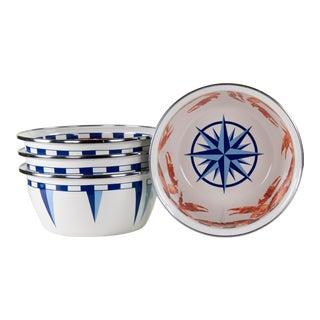 Salad Bowls Crab House - Set of 4 For Sale