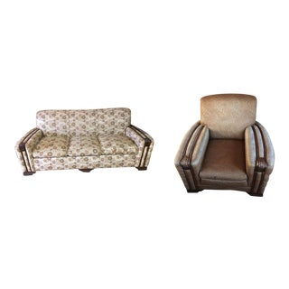 Vintage Sofa & Lounge Chair - A Pair
