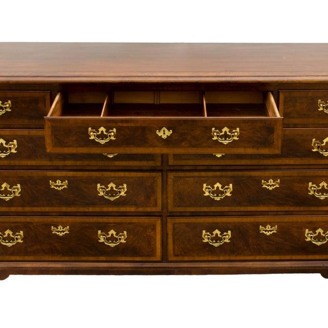 English Traditional Henredon Aston Court Mahogany & Elm Dresser For Sale - Image 3 of 6