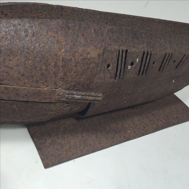 Brutalist Metal Fish Sculpture - Image 4 of 11