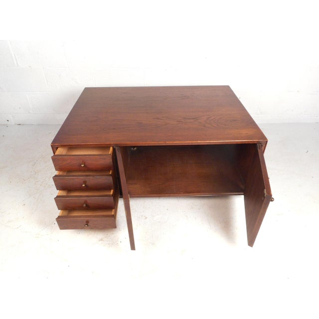 Unique Midcentury Coffee Table With Storage Compartments Chairish