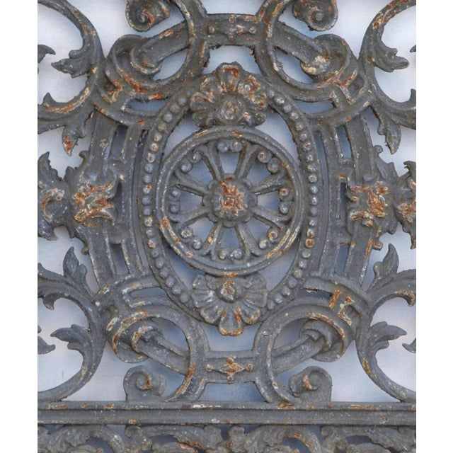 Antique 19th C. French Iron Architectural Panel - Image 10 of 11