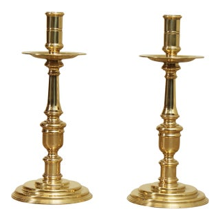 Quality Brass Candlesticks - a Pair For Sale
