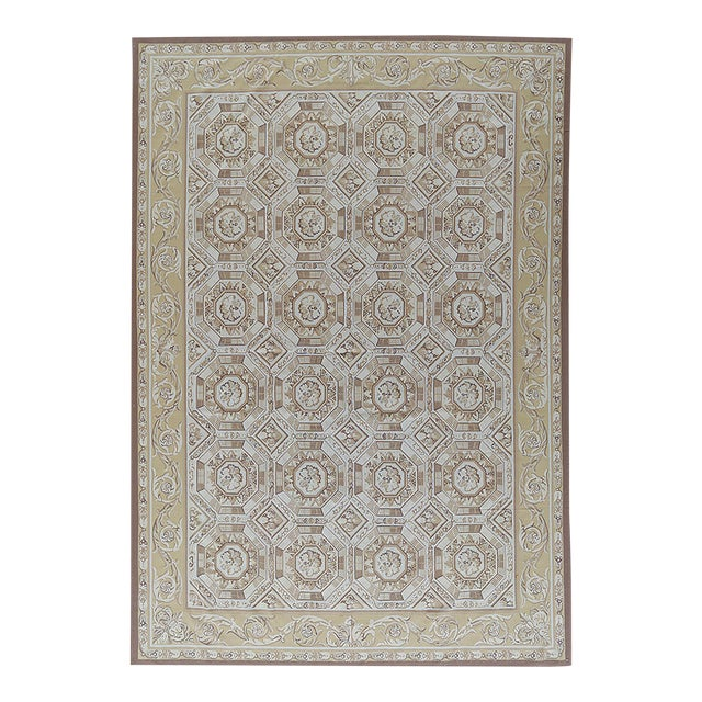 "Pasargad Aubusson Hand Woven Wool Rug - 11' 1"" X 16' 2"" For Sale"