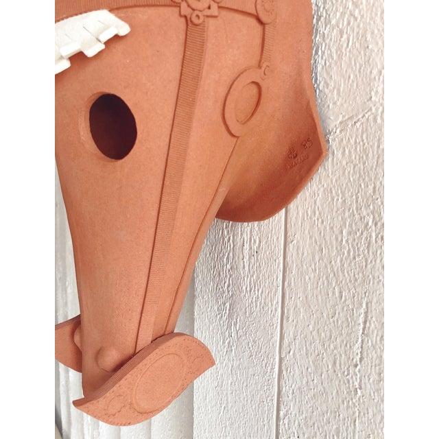 Japanese Wataru Sugiyama Mounted Haniwa Terra Cotta Horse Head Sculpture For Sale - Image 3 of 6