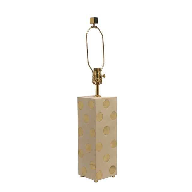 Metal Domino Lamp For Sale - Image 7 of 7