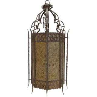 Large Spanish Antique Iron Hanging Light