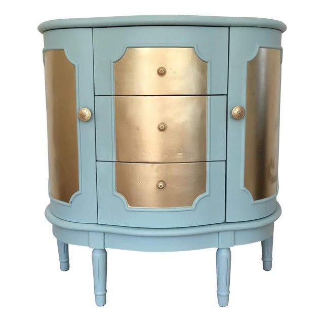 Demilune Console Table or Storage Cabinet - Image 1 of 9