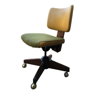Antique Walnut Swivel-Tilt Task Chair by Johnson Chair Co. For Sale