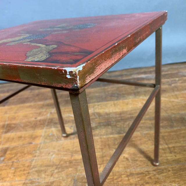 19th Century Red Lacquered Nesting Tables For Sale - Image 11 of 13