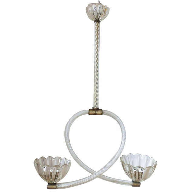 Cups Pendant by Barovier E Toso For Sale