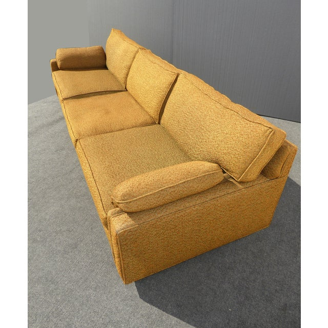 Mid Century Modern Gold Sofa On Castors Chairish