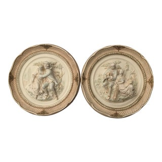 Vintage Alexander Backer Sculptural Wall Plaques - A Pair For Sale