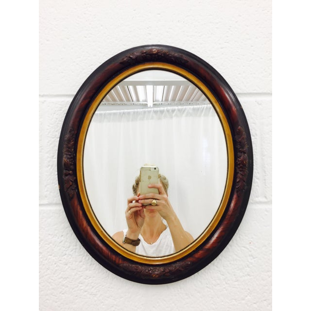 Antique Wooden Mirror - Image 2 of 8