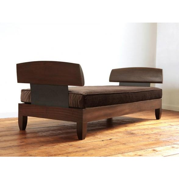 Contemporary 21st Century Contemporary Ralph Pucci Mahogany Daybed For Sale - Image 3 of 3
