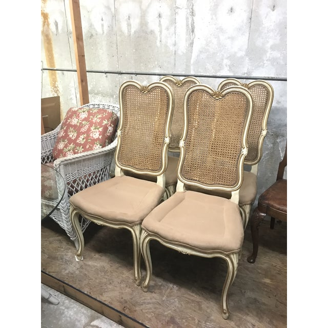 Mid 20th Century Vintage Mid Century Louis XV French Chairs- Set of 4 For Sale - Image 5 of 5