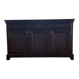 Crate and Barrel Winnetka Dark Mahogany Buffet For Sale