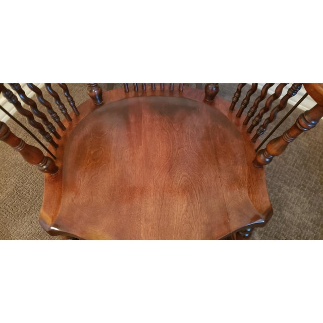 19th Century Carved Mahogany Twist Spindle Rocking Chair For Sale In San Antonio - Image 6 of 8