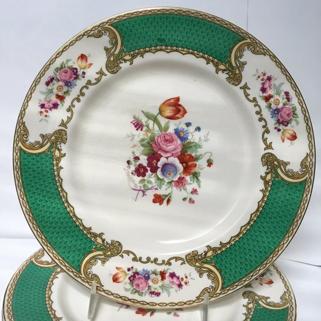 Edwardian Early 20th Century Antique Myotts Staffordshire England China Luncheon Plates - Set of 5 For Sale - Image 3 of 8