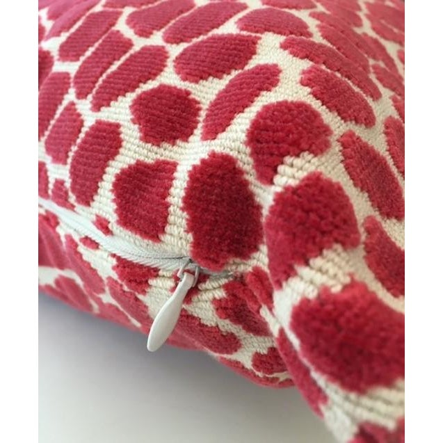 Clarence House Pink Leopard Velvet Accent Pillow - Image 3 of 4
