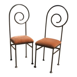 Luigi Serafini Style Postmodern Spiral Chairs - a Pair For Sale