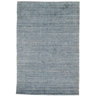 """Traditional Pasargad N Y Modern Wool & Bamboo Silk Hand Knotted Area Rug - 4'1"""" X 6'1"""" For Sale"""