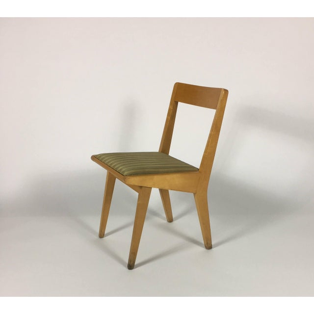 Wood 1950s Mid-Century Modern Jens Risom Knoll Side Chair For Sale - Image 7 of 10