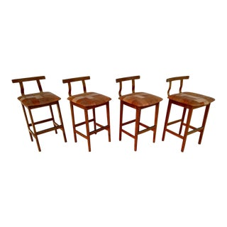 K. S. Mobler, Danish Modern Counter Stools, Set of 4 For Sale