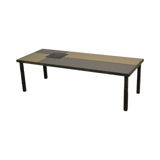 Raymond Mathis Tutto Metal Design Studio Crafted Iron & Stone Tile Top Coffee Table For Sale