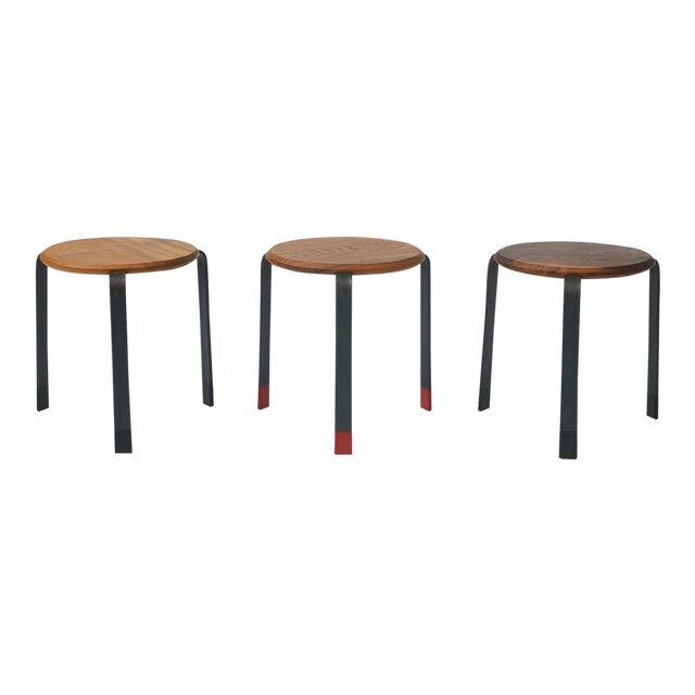 Josh Duthie - Low Stacking Stools - set of 3 For Sale