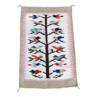 Woven Bird Textile Wall Hanging