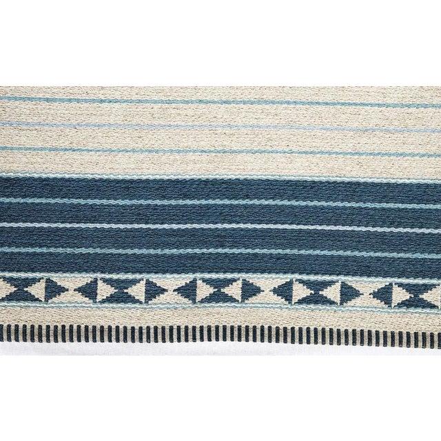 Vintage Ingrid Dessau flat-weave Swedish carpet signed ID. Store formerly known as ARTFUL DODGER INC