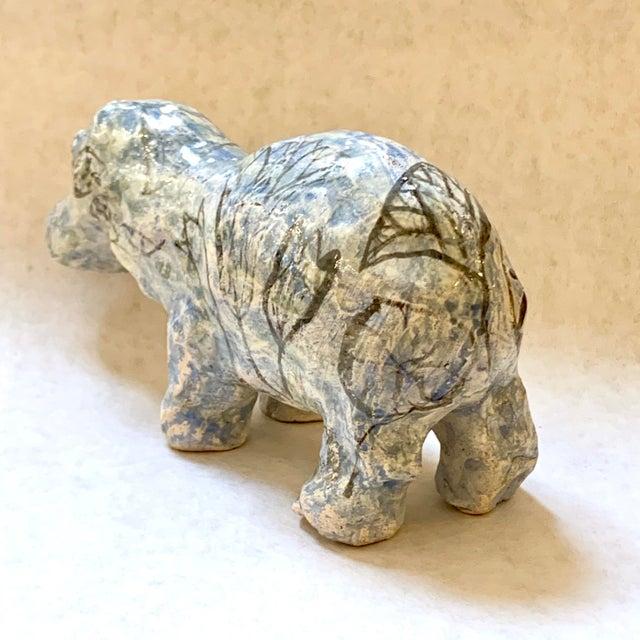 "Vintage Mid-Century ""William the Faience Hippopotamus"" Figurine For Sale In Sacramento - Image 6 of 13"