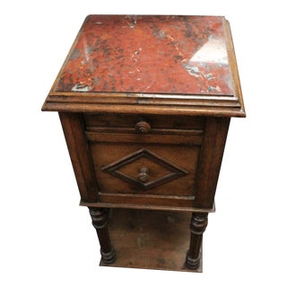 20th Century Art Deco Red Onyx Top Side Table For Sale