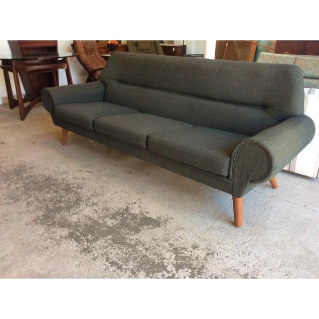 Green Rare Kurt Ostervig Ryesberg Mobler Danish Sofa For Sale - Image 8 of 10