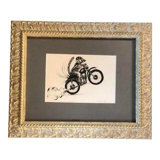 """Chipmunk Wheelie"" Gouache Painting by Anna Heigh For Sale"