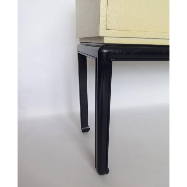 Wood Modern Lacquered Grasscloth Console or Buffet For Sale - Image 7 of 8